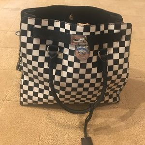 Michael Kors checkerboard print large bag